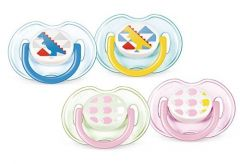 [3] AVENT SOOTHERS 0-6 MONTHS SILICONE FASHION (D)