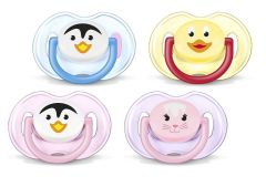 [3] AVENT SOOTHERS 0-6 MONTHS SILICONE ANIMAL