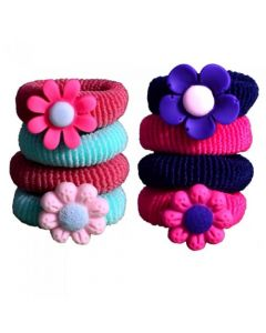 [12] 4 PIECE PONIO SET 2 PLAIN/2 FLOWER(D)