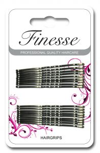 [6] FINESSE HAIRGRIPS - GREY 4.5CM