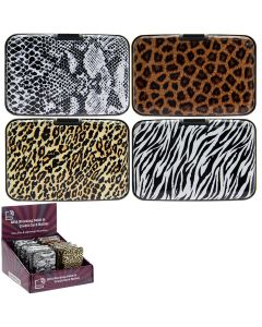 [12] L & P C CARD PROTECTORS IN 4 ASSORTED ANIMAL DESIGNS(D)