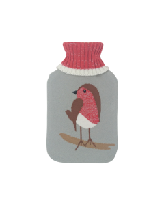 [12] MISTRY PREMIUM KNITTED COVER HOT WATER BOTTLE-ROBIN