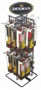 DENMAN ROTARY COUNTER STAND - HOLDS 27 BRUSHES
