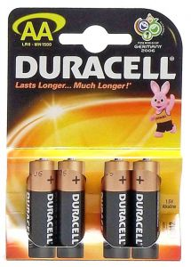 [20] DURACELL BATTERIES 4 PK AA