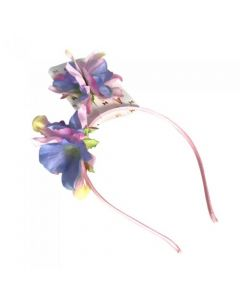 [12] TROPICAL FLOWER 2PC HEADBAND & CLIP SET(D)