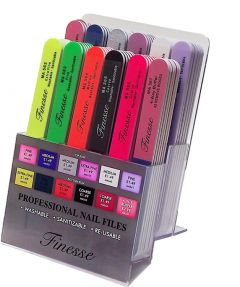 [1x72] FINESSE PROFESSIONAL NAIL FILE DISPLAY 5% Off DEAL