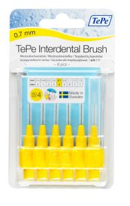 [10] TEPE INTERDENTAL BRUSHES SIZE 4 - YELLOW 0.7MM