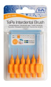 [10] TEPE INTERDENTAL BRUSHES SIZE 1 - ORANGE 0.45M