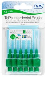 [10] TEPE INTERDENTAL BRUSHES SIZE 5 - GREEN 0.8MM