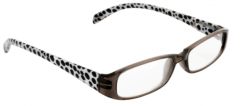 BETA VIEW READING GLASSES- BLACK & WHITE DOTS 2.50 (D)