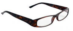 BETA VIEW READING GLASSES- BROWN TORTOISESHELL 2.50(D)