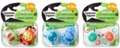 [3] TOMMEE TIPPEE CTN FUN SOOTHERS 6-18M