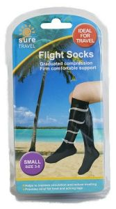 [3] SURE TRAVEL FLIGHT SOCKS - MEDIUM