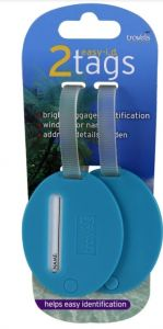 [6] TRAVELS LUGGAGE TAGS PLAIN COLOUR