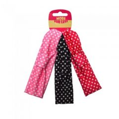 [12] 3PK POLKA DOT HEADWRAP(D)
