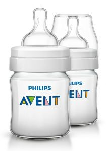[4] AVENT CLASSIC+ BOTTLES 125ML TWIN PACK (D)