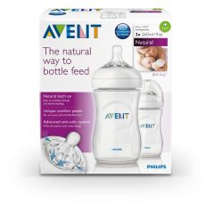 AVENT NATURAL TWIN PACK BOTTLES 260ML