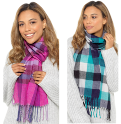 LADIES CHECKED SCARF *AVAILABLE FROM OCTOBER*