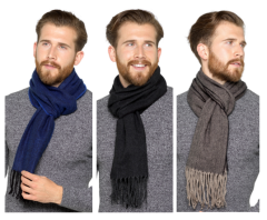 MENS HERRINGBONE SCARF *AVAILABLE FROM OCTOBER*