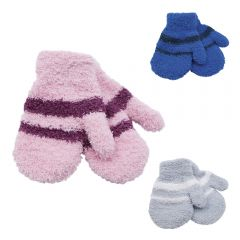 BABIES SOFT TOUCH STRIPED MITTENS