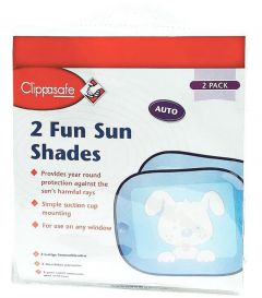 [5] CLIPPASAFE FUN SUN SCREENS TWIN PACK (D)