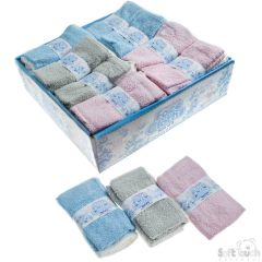 TWIN PACK BABY FACE FLANNEL - 100% COTTON