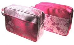 LARGE SATIN COSMETIC BAGS