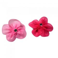 [12] CHIFFON FLOWER ON CLIP (D)