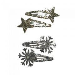 [12] SPARKLING SILVER HAIRSLIDES (D) *EXTRA 20% OFF*
