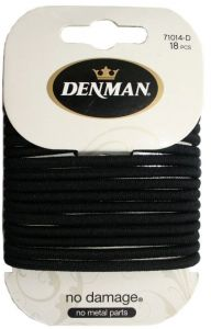 DENMAN 18 PK 4MM L ND ELASTIC - BLK