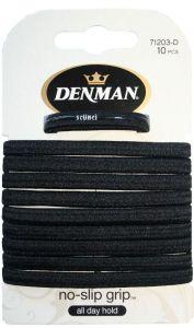 Denman 10 Pk NS Elastics Black