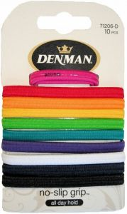 DENMAN 10 PK NS ELASTICS ASSORTED - BRIGHT