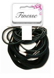 Finesse Black Elastics Assorted