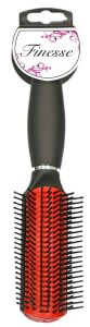 FINESSE RED RUBBER PAD HAIRBRUSH