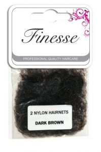 FINESSE HAIRNETS - DARK BROWN 2PK
