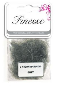FINESSE HAIRNETS - GREY 2PK