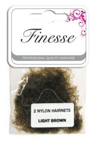FINESSE HAIRNETS - LIGHT BROWN 2PK