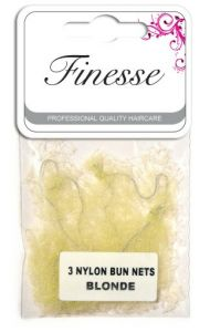 FINESSE BUN NETS - BLONDE 3PK