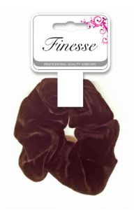 FINESSE VELVET SCRUNCHIE- BLACK **ETA JULY**