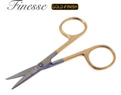 FINESSE GOLD CUTICLE SCISSOR - STRAIGHT