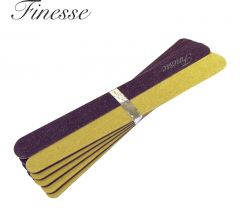 FINESSE EMERY BOARDS 10PK - MEDIUM 11cm
