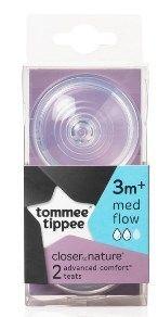 TOMMEE TIPPEE CTN TEATS MEDIUM FLOW 3 MONTHS+
