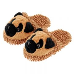 [6] FUZZY FRIENDS SLIPPERS PUG (D)