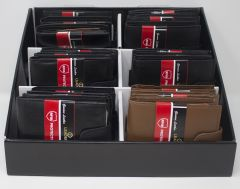 ASSORTED LEATHER RFID PROTECTED WALLET