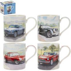 Classic Cars Mug 4 Asst