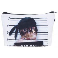 Kukubird Make Up  Bag  Bad Cats
