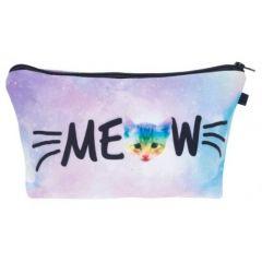 Kukubird  Make Up Bag Meow Rainbow Cats