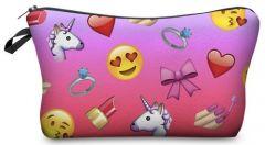 Kukubird Make Up Bag Emoji Girls Pink