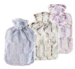 [6] HUGO FROSCH CLASSIC FAUX FUR COVER & HOT WATER BOTTLE(D)