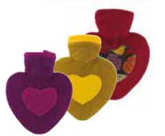 [6] HUGO FROSCH HEARTS COVER 1L HOT WATER BOTTLE(D)